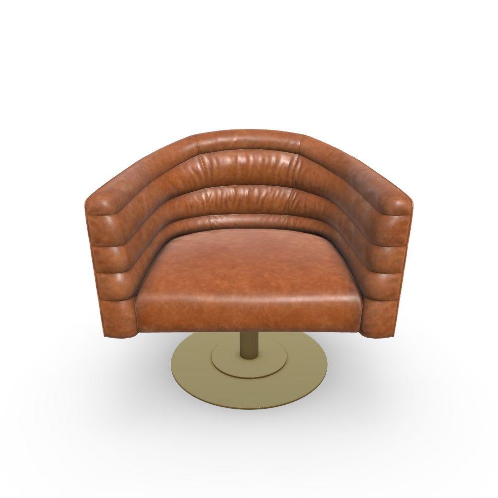 Peachy Cupa Saddle Leather Swivel Base Chair Inzonedesignstudio Interior Chair Design Inzonedesignstudiocom